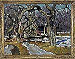 EVGENIY AGAFONOV 1879-1956 Winter landscape