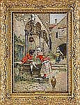EDOUARDO TOUDOUZE Frankrike 1848-1907 Kurtis vid