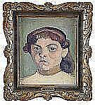 IVAN AGUÉLI 1869-1917 Flickporträtt Olja på duk,