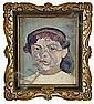 IVAN AGUÉLI 1869-1917 Flickporträtt Olja på duk,, Ivan Agueli, Click for value