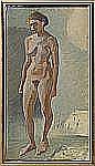 IVAN AGUÉLI 1869-1917 Stående modell Olja på duk