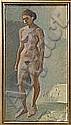 IVAN AGUÉLI 1869-1917 Stående modell Olja på duk, Ivan Agueli, Click for value