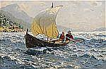 HANS DAHL Norge 1849-1937 Fröliche Fahrt