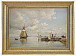 CARL BILLE Danmark 1815 -1898 Sommardag i Öresund