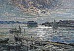 ANNA GARDELL ERICSON 1853-1939 Segelbåtar vid