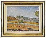 IVAN AGUÉLI 1869-1917 Landskap Olja på duk fäst på
