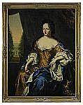 DAVID KLÖCKER EHRENSTRAHL 1629-1698 Porträtt av