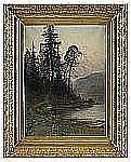 JOHN KINDBORG 1861-1907 Skogsstigen Signerad och