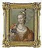 GUSTAF LUNDBERG 1695-1786 Porträtt av friherrinnan, Gustaf Lundberg, Click for value