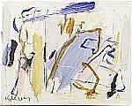 ULRICH, Kjeld (1942): Komposition, signerad, olja