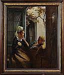 EMILE TABARY, Frankrike, 1857-1927, Samtal vid
