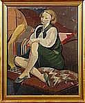 POLIAKOFF, Nicolas (1899-1976): Modell, signerad N