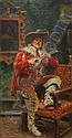 Konstantin Egorovich Makovsky 1839-1915 The Singer, Konstantin Egorovich Makovsky, Click for value