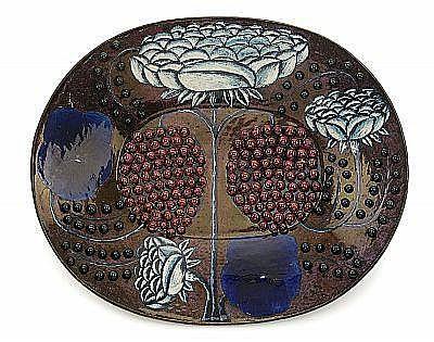 BIRGER KAIPIAINEN, dish, Arabia 1960-70´s,