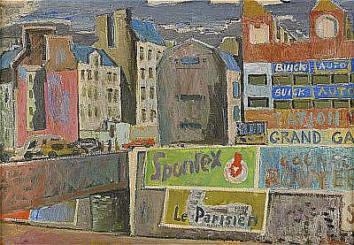 SAM VANNI Finland 1908-1992 Le Parisien motiv från