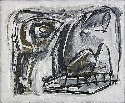 ANTONIO SAURA Spanien 1930-1998 Självporträtt n