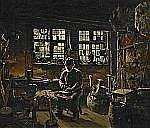 - ANDERS MONTAN 1845-1917 I smedjan Signerad A.