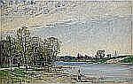 - JOHN KINDBORG 1861-1907 Vårlandskap med metande