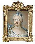 - GUSTAF LUNDBERG 1695-1786 Porträtt av drottning