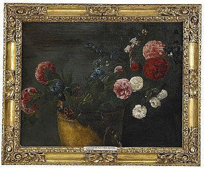 JAN FYT Antwerpen 1611-1661 Pioner, rosor, iris