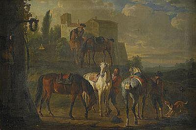 PIETER VAN BLOEMEN Antwerpen 1657-1720 Hästarna