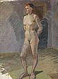 IVAN AGUÉLI 1869-1917 Aktstudie Olja på duk, 84,5, Ivan Agueli, Click for value