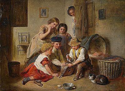 ARTHUR MEADE England c. 1863-1947 Interiör med