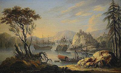 ORAZIO GREVENBROECK Holland c. 1670-1743,