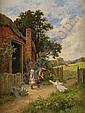 HENRY HILLIER PARKER England 1858-1930 Gässen, Henry H. Parker, Click for value