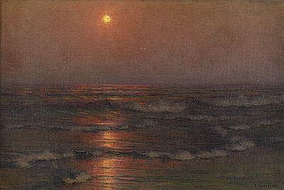 ALEXANDER HARRISON USA 1853-1930 Böljande hav i