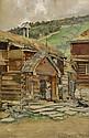 GERHARD MUNTHE Norge 1849-1929 Bjölstad Signerad