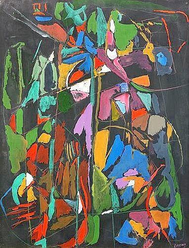 ANDR LANSKOY Frankrike 1902-1976 Composition sur