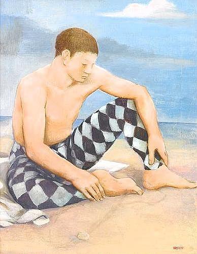 PETER WEISS 1916-1982 Harlekin Signerad och