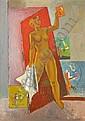 NILS WEDEL 1897-1967 Modell i ateljon Signerad och, Nils Wedel, Click for value