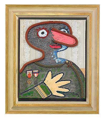 ENRICO BAJ Italien 1924-2003 Untitled Signerad