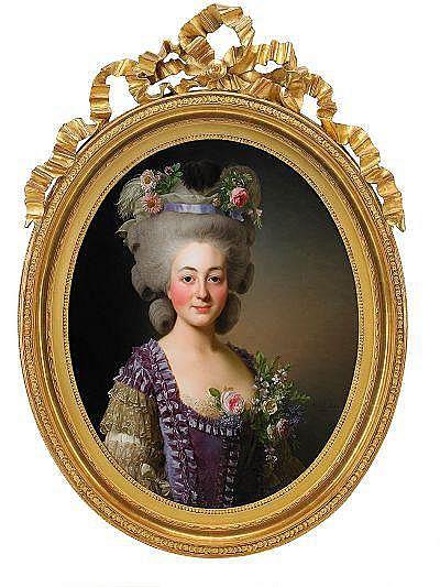 ALEXANDER ROSLIN 1718-1793 Porträtt av grevinnan