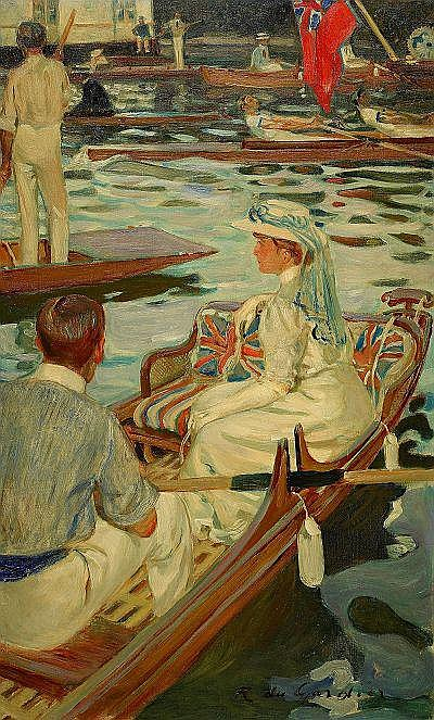 RAOUL DU GARDIER Frankrike 1871-1952 Kapprodd