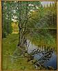 AUGUST HAGBORG 1852-1921 Sommarlandskap Signerad, August Hagborg, Click for value