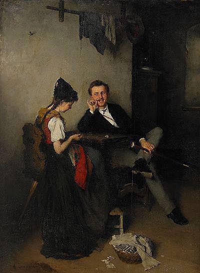 ANTON LAUPHEIMER Tyskland 1848-1927 Frieriet