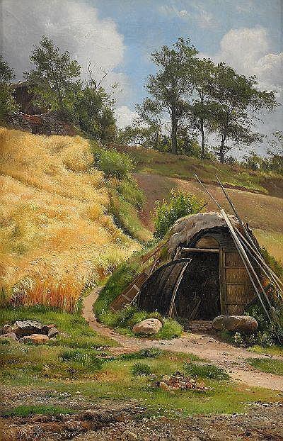 CARL FREDRIK AAGAARD Danmark 1833-1895 Solbelyst