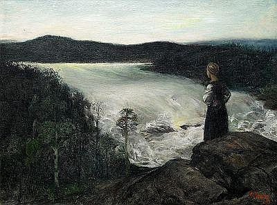 CHRISTIAN KROHG Norge 1852-1925 Flicka vid