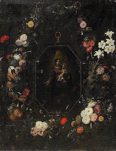 JAN VAN KESSEL hans krets, Flandern, omkring 1650