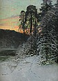 JOHN KINDBORG 1861-1907 Vinterlandskap i