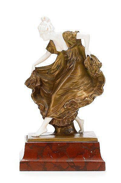 ERNST SEGER Tyskland 1868-1939 Dansande flicka