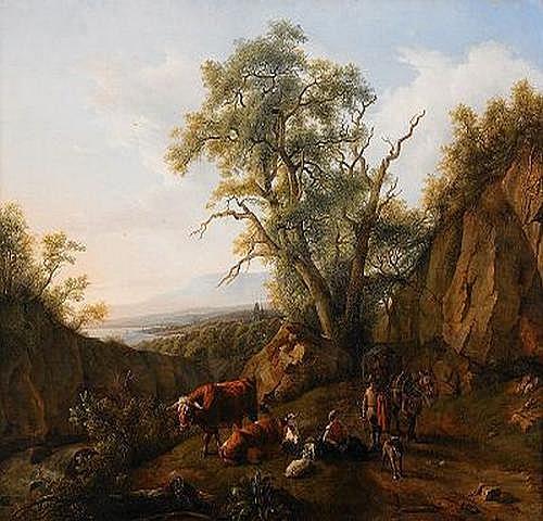 JEAN DANIEL HUBER Schweiz 1754-1845 Pastoralt