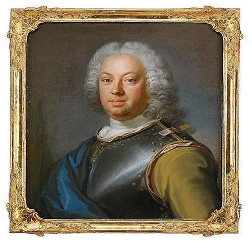 GUSTAF LUNDBERG 1695-1786 Portratt av amiralen