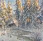 ANSHELM SCHULTZBERG 1862-1945 Decemberafton i, Anshelm Schultzberg, Click for value