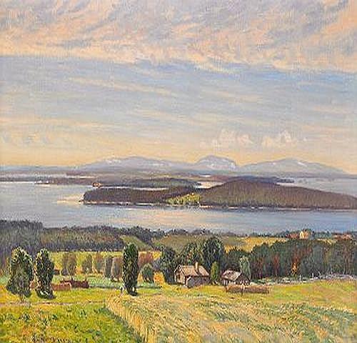 ANTON GENBERG 1862-1939 Utsikt ver Storsjn och