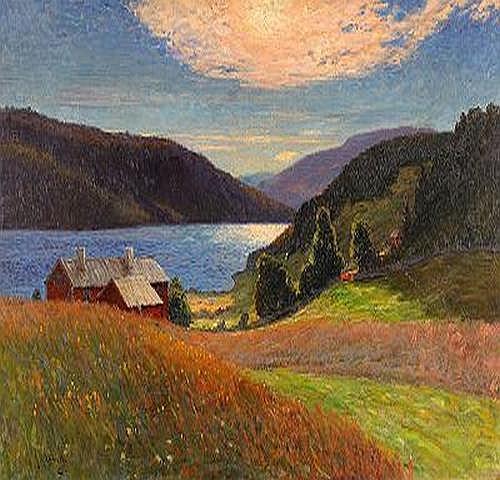 ANTON GENBERG 1862-1939 Eftermiddagsstmning -
