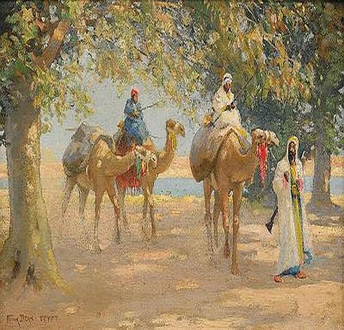 FRANK DEAN England 1867-1947 Ridande beduiner